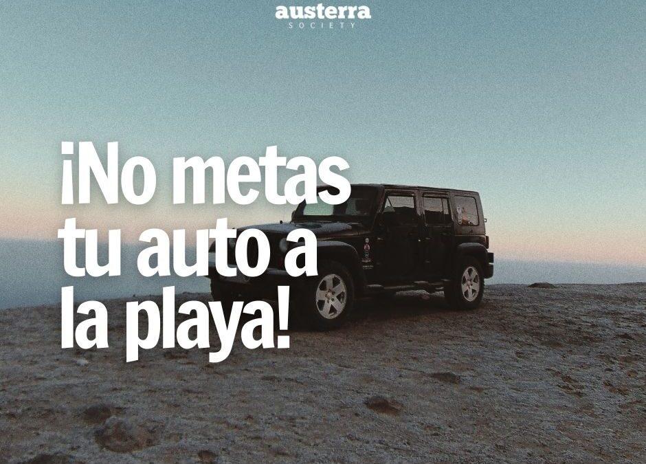No metas tu auto a la playa